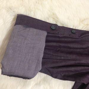 Express Tops - Express Berry Purple Chambray Button Down Shirt